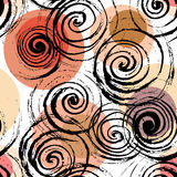 Swirl seamless pattern. Stock Photo