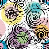 Swirl seamless pattern. Stock Image