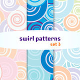 Swirl seamless pattern set3 Stock Images