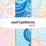 Swirl seamless pattern set3. Swirl seamless pattern colored. set 3 vector illustration