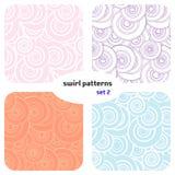 Swirl seamless pattern. Set 2. Seamless pattern of colored swirl royalty free illustration