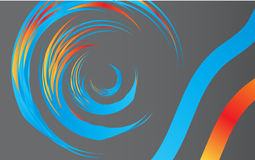Swirl shape on grey Royalty Free Stock Image
