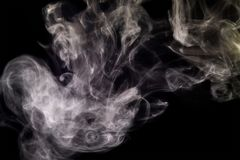Swirl smoke abstract. On black background Royalty Free Stock Photo