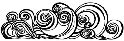 Swirl. spiral brush stroke. Spiral brush stroke. hand drawn shapes Stock Image