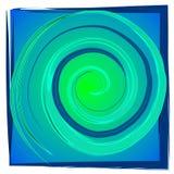 Swirl Spiral Tile - Blue Green Stock Photography