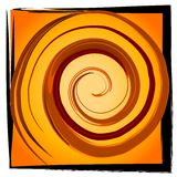 Swirl Spiral Tile - Gold Black. An abstract texture background pattern of a gold and black tile with a swirl and spiral dsign Stock Photos