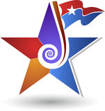 Swirl star logo Stock Photo