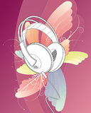 Swirl Stereo Headphones. Vector Illustration Royalty Free Stock Photos