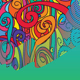 Swirl style line card colorful template royalty free illustration