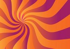 Sunshine. Swirl in sunshine yellow orange color stock illustration