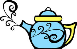 Swirl Teapot Stock Photos