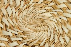Swirl Texture. Tan woven swirl straw texture close abstract royalty free stock photography