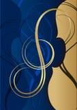 Swirl TREBLE CLEF. Vector ilustration of swirl TREBLE CLEF Stock Images