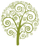 Swirl tree Stock Images