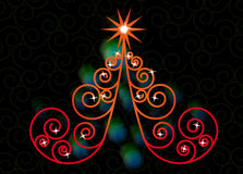 Swirl tree christmas Stock Photos