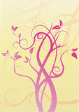 Swirl tree design Stock Image
