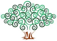 Swirl tree. Isolated illustrated image Royalty Free Stock Image