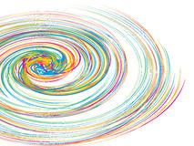 Swirl vector circle background Royalty Free Stock Photography