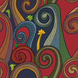 Swirl vertical seamless pattern Stock Images