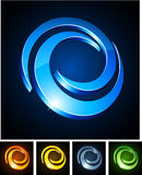 Swirl vibrant emblems. Royalty Free Stock Photo