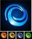 Swirl vibrant emblems. Royalty Free Stock Photo