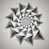 Swirl, vortex background. Rotating  spiral. Pattern of a whirling of hearts. Triangle, gradient, silhouette. Stock Photo