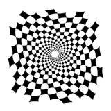 Swirl, vortex background. Rotating spiral. Square, diamond, technical, geometry, geometric Stock Image