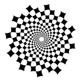 Swirl, vortex background. Rotating spiral. Square, diamond, technical, geometry, geometric Royalty Free Stock Photos