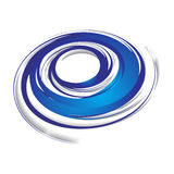 Swirl wave. 3d abstract blue swirl wave on a white background, vector illustration Royalty Free Stock Photos