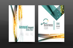 Swirl wave annual report for business correspondence letter. Flyer design Royalty Free Stock Image