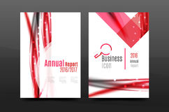 Swirl wave annual report for business correspondence letter. Flyer design Royalty Free Stock Photography