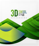 Swirl and wave 3d effect objects, abstract template vector design Royalty Free Stock Photography