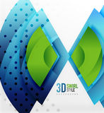 Swirl and wave 3d effect objects, abstract template vector design Stock Photos