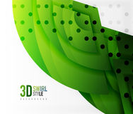 Swirl and wave 3d effect objects, abstract template vector design. Overlapping waves on white background Stock Image
