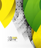Swirl and wave 3d effect objects, abstract template vector design. Overlapping waves on white background Royalty Free Stock Images