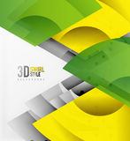 Swirl and wave 3d effect objects, abstract template vector design. Overlapping waves on white background vector illustration