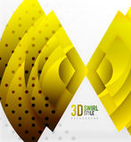 Swirl and wave 3d effect objects, abstract template vector design Royalty Free Stock Image