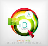 Swirl web design infographic bubble - flat concept Stock Photography