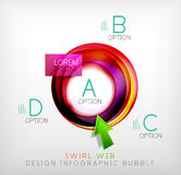Swirl web design infographic bubble - flat concept Royalty Free Stock Image