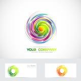 Swirl whirl whirlpool logo Royalty Free Stock Photo