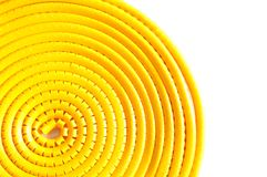 Swirl yellow cable marker Stock Photos