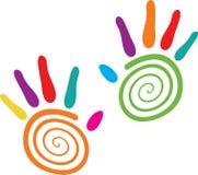 Swirlhänder Arkivbilder
