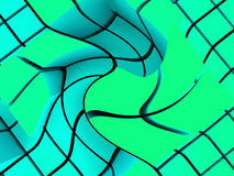 Swirling block structures Royalty Free Stock Images