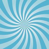 Swirling blue sunburst pattern. Radial design for comic background. Vortex backdrop. Vector. Swirling blue sunburst pattern. Radial design for comic background stock illustration