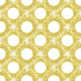 Swirling Bubbles Seamless Background. Seamless pattern background with swirling bubbles around holes in yellow tones Stock Images