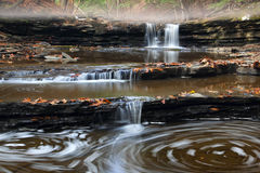 Swirling Cascades. Located at Bozenkill Preserve New York royalty free stock photography