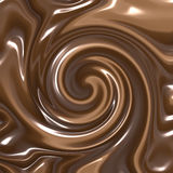 Swirling chocolate. Delicious swirling melted dark and milk chocolate Stock Images