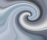 Swirling chrome Stock Image