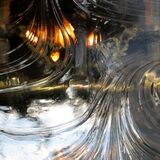 swirling clear glass texture Royalty Free Stock Photography