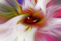Swirling color lines flowing and spinning around Royalty Free Stock Image